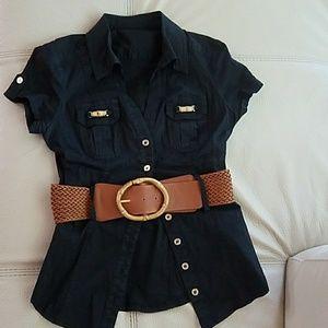 Cotton Black Shirt